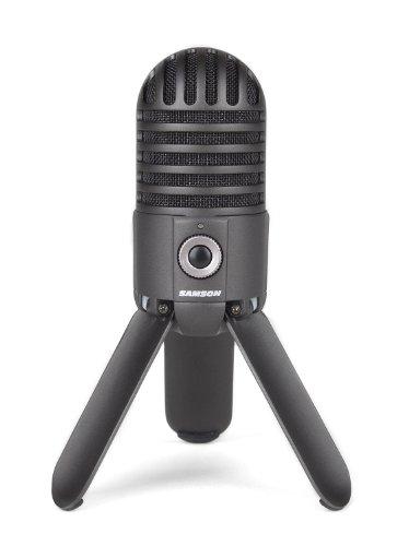 Samson Meteor Mic USB Studio Microphone Titanium Black – Dumuby