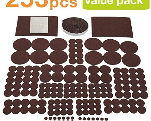 253 Value Pack Furniture Pads Multi Sizes Heavy Duty