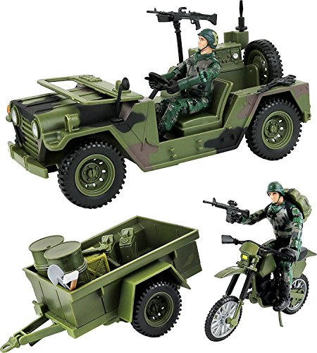 Click N/' Play Military Humvee Jeep Vehicle 20 Piece Play Set with Accessories.
