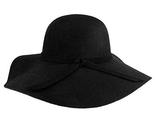 Vbiger Fedora Hat Floppy Hat Bowler Hat Wool Wide Brim Hat Vintage for Women ac86ac701a88