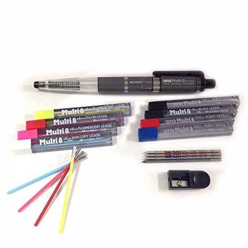 12 tubes Orange Lead Pentel CH2 Multi 8 2.0mm Colour Pencil Refill