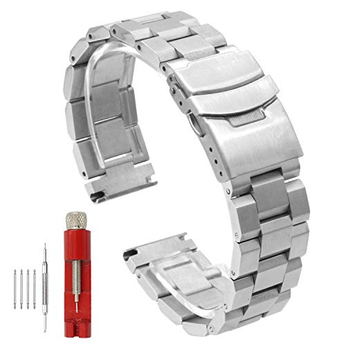 7354b020dd2 Stainless Steel Watch Band Classic Watch Strap 22mm with Foldable ...